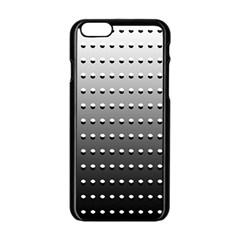 Gradient Oval Pattern Apple iPhone 6/6S Black Enamel Case