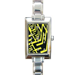 Pattern Abstract Rectangle Italian Charm Watch