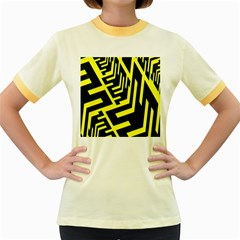 Pattern Abstract Women s Fitted Ringer T-Shirts