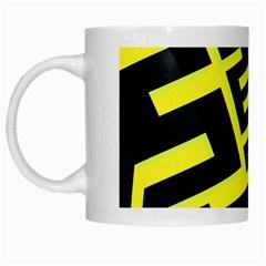 Pattern Abstract White Mugs
