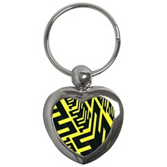 Pattern Abstract Key Chains (heart)