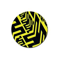 Pattern Abstract Rubber Round Coaster (4 pack)