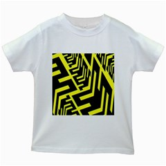Pattern Abstract Kids White T Shirts