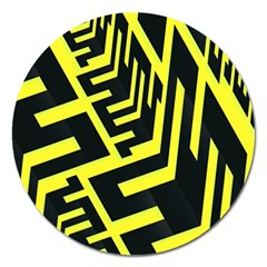 Pattern Abstract Magnet 5  (round)