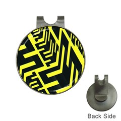 Pattern Abstract Hat Clips With Golf Markers