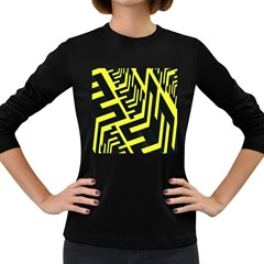 Pattern Abstract Women s Long Sleeve Dark T Shirts