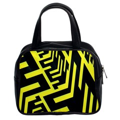 Pattern Abstract Classic Handbags (2 Sides)