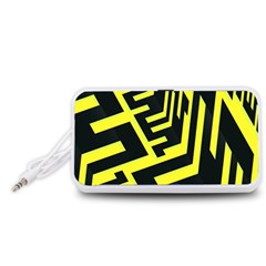 Pattern Abstract Portable Speaker (White)