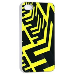 Pattern Abstract Apple iPhone 4/4s Seamless Case (White)