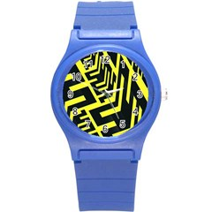 Pattern Abstract Round Plastic Sport Watch (S)
