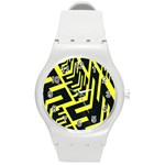 Pattern Abstract Round Plastic Sport Watch (M) Front