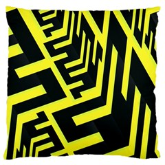 Pattern Abstract Large Cushion Case (One Side)