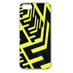 Pattern Abstract Apple Seamless iPhone 5 Case (Clear)