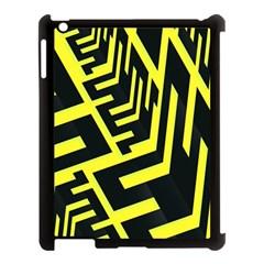 Pattern Abstract Apple iPad 3/4 Case (Black)