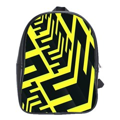 Pattern Abstract School Bags (XL)
