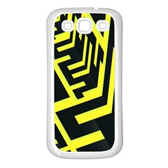Pattern Abstract Samsung Galaxy S3 Back Case (White)