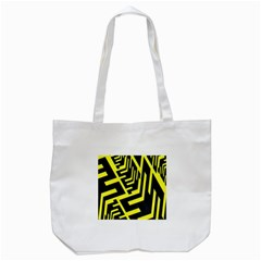 Pattern Abstract Tote Bag (White)