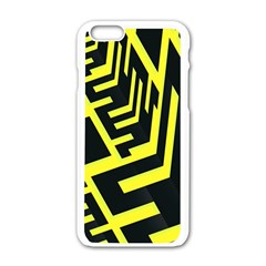 Pattern Abstract Apple Iphone 6/6s White Enamel Case