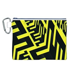 Pattern Abstract Canvas Cosmetic Bag (l)