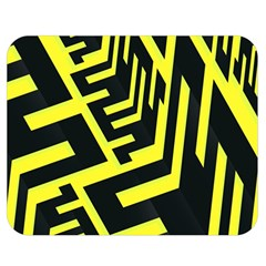 Pattern Abstract Double Sided Flano Blanket (Medium)