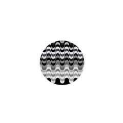 Chevron Wave Triangle Waves Grey Black 1  Mini Magnets