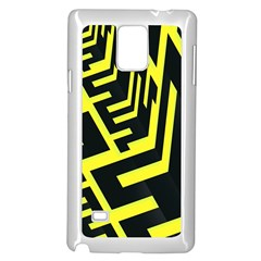 Pattern Abstract Samsung Galaxy Note 4 Case (White)