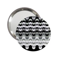 Chevron Wave Triangle Waves Grey Black 2 25  Handbag Mirrors