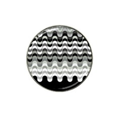 Chevron Wave Triangle Waves Grey Black Hat Clip Ball Marker (10 Pack)