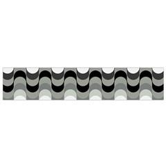 Chevron Wave Triangle Waves Grey Black Flano Scarf (small)