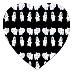 Cute Ghost Pattern Jigsaw Puzzle (heart)