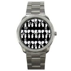 Cute Ghost Pattern Sport Metal Watch