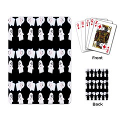 Cute Ghost Pattern Playing Card
