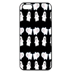 Cute Ghost Pattern Apple iPhone 5 Seamless Case (Black)
