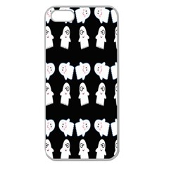 Cute Ghost Pattern Apple Seamless Iphone 5 Case (clear)