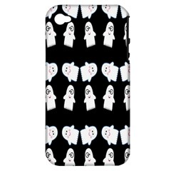 Cute Ghost Pattern Apple iPhone 4/4S Hardshell Case (PC+Silicone)