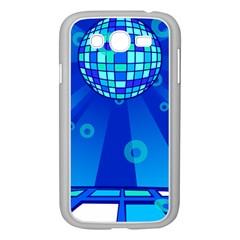 Disco Ball Retina Blue Circle Light Samsung Galaxy Grand Duos I9082 Case (white)