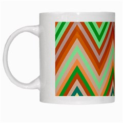 Chevron Wave Color Rainbow Triangle Waves White Mugs