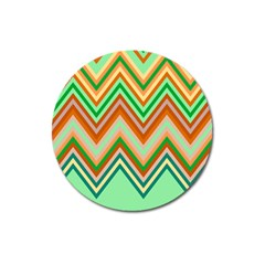 Chevron Wave Color Rainbow Triangle Waves Magnet 3  (round)