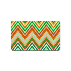 Chevron Wave Color Rainbow Triangle Waves Magnet (name Card)