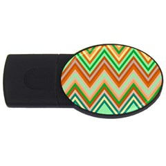 Chevron Wave Color Rainbow Triangle Waves Usb Flash Drive Oval (2 Gb)