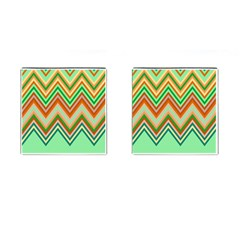 Chevron Wave Color Rainbow Triangle Waves Cufflinks (square)