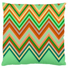 Chevron Wave Color Rainbow Triangle Waves Large Cushion Case (two Sides)