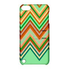 Chevron Wave Color Rainbow Triangle Waves Apple Ipod Touch 5 Hardshell Case With Stand