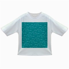 Digital Art Minimalism Abstract Candles Blue Background Fire Infant/Toddler T-Shirts