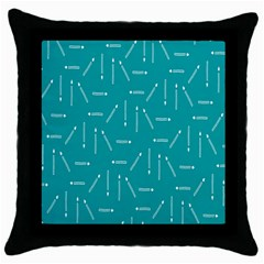 Digital Art Minimalism Abstract Candles Blue Background Fire Throw Pillow Case (black)