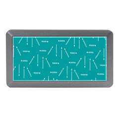 Digital Art Minimalism Abstract Candles Blue Background Fire Memory Card Reader (Mini)