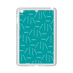 Digital Art Minimalism Abstract Candles Blue Background Fire Ipad Mini 2 Enamel Coated Cases