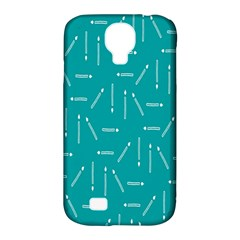 Digital Art Minimalism Abstract Candles Blue Background Fire Samsung Galaxy S4 Classic Hardshell Case (PC+Silicone)