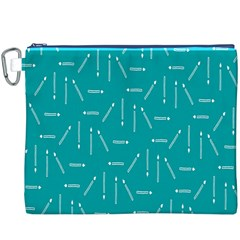 Digital Art Minimalism Abstract Candles Blue Background Fire Canvas Cosmetic Bag (xxxl)