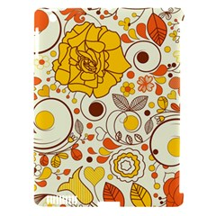 Cute Fall Flower Rose Leaf Star Sunflower Orange Apple Ipad 3/4 Hardshell Case (compatible With Smart Cover)